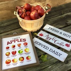 Farmhouse Wooden Signs Guide To Apples Apple Cider
